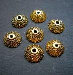 Antik arany gyöngykupak - 10 mm