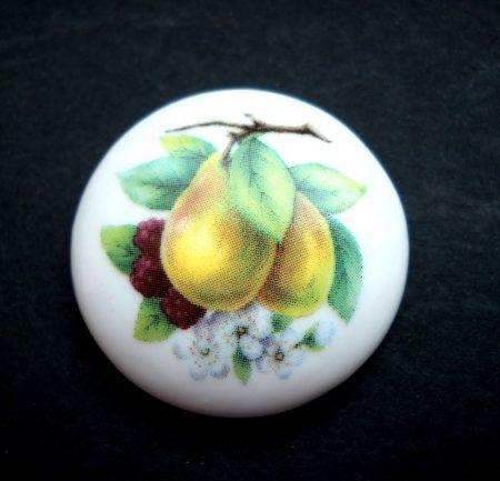 Porcelán kaboson - 30 mm - gyümölcsök 1#