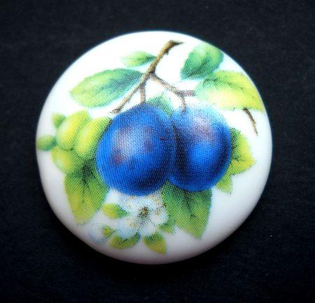 Porcelán kaboson - 30 mm - gyümölcsök 6#