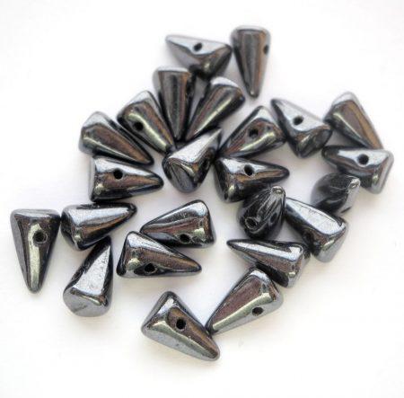 Cseh tüske - 8*5 mm - hematit