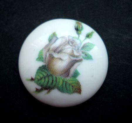 Porcelán kaboson - 25 mm - rózsabimbó