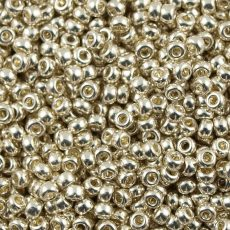 Miyuki 11/0 - #1051 -  Galvanizált tartós bevonatú ezüst  - 10 gr