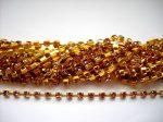 Strasszlánc - 3,2 mm - tanzanite -arany - 25 cm