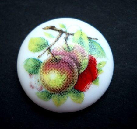 Porcelán kaboson - 30 mm - gyümölcsök 3#