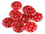 Millefiori glass bead - 18 mm - red