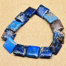 Kék császárkő négyzet - 16 mm