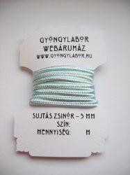 Soutache braid - 3 mm - glossy - blue glass  (#27)