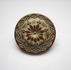 Antique finish metal shank button - 20 mm - patina