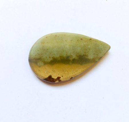 Tájkép jáspis csepp  kaboson 30*20 mm