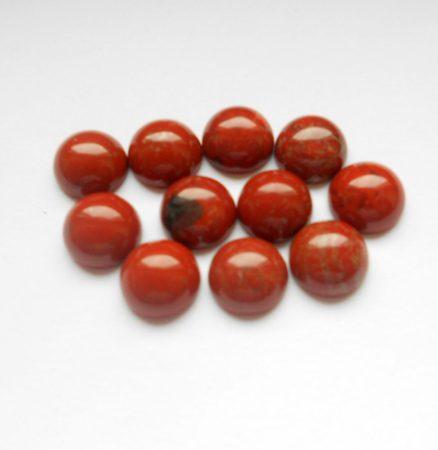 Vörös folyó jáspis kaboson - 10 mm