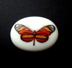 Porcelán kaboson - 40*30 mm - pillangó 5#