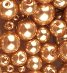 Czech glass pearl - 10 mm - 10 pcs/pack - light bronz
