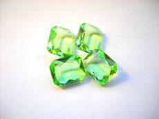 Swarovski szögletes octogon kristály - 12x10 mm - peridot - fóliázatlan