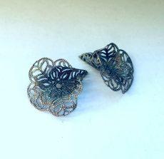 Bead cap antique silver cone 10x7 mm