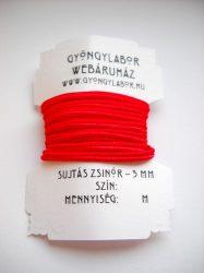 Soutache braid - 3 mm - glossy -  red  (#3)