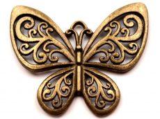 Pillangó medál - 58x48 mm - bronz