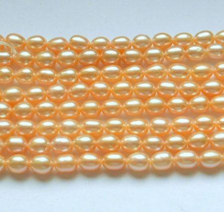 Igazgyöngy - rózsaszín - 6-7 mm