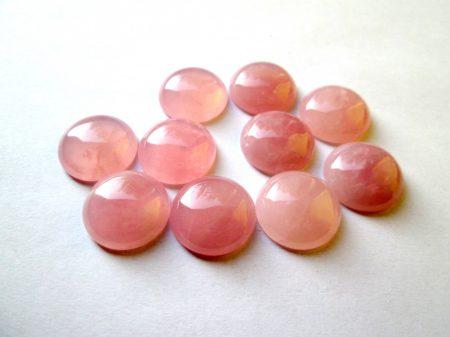 Rózsakvarc kaboson - 12 mm