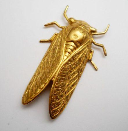 Kabóca - antik arany - 50*32 mm