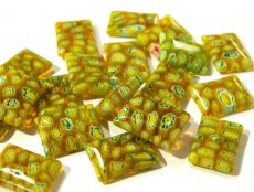 Millefiori tégla - 18x13 mm - lime