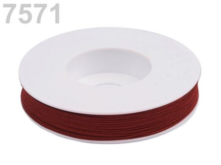 Sujtás zsinór - 3 mm -  riói vörös  (#7571)