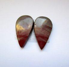 Noréna jáspis kaboson - összeillő pár - 19*11 mm