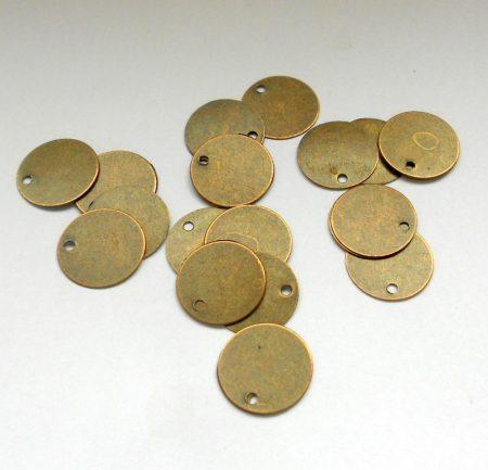 Bronz korong fityegő - 12 mm