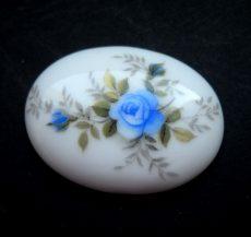 Porcelán kaboson - 40*30 mm - rózsák 2#