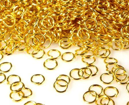 Szerelőkarika 6 mm - arany - 50 db