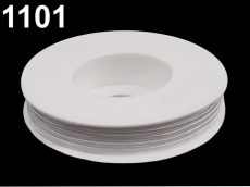 Sujtás zsinór - 3 mm -  fehér (#1101)