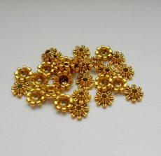 Gyöngykupak - 8*2 mm - antik arany