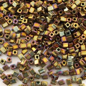 Miyuki 1,8 mm kocka - #462 -  Metallic Gold Iris