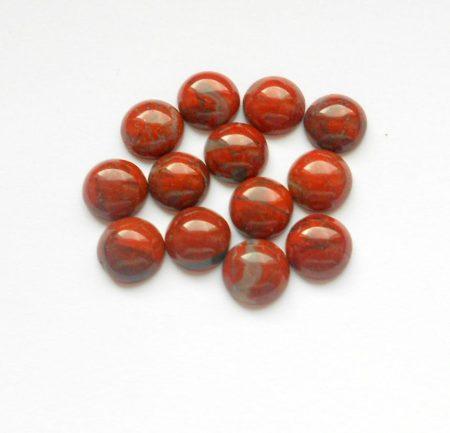 Vörös folyó jáspis kaboson - 8 mm