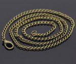 Bronz színű lánc delfinkapoccsal - 46cm (3.5x2.6 mm)