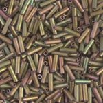 Miyuki 6 mm  bugle - Matte  Metallic Patina Iris - # 2008