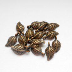 Leaf charm - 15*8 mm - copper