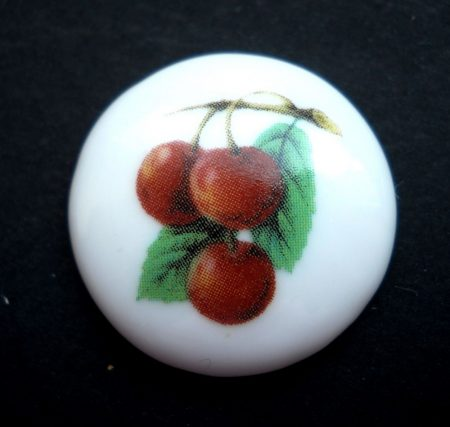 Porcelán kaboson - 25 mm - cseresznye