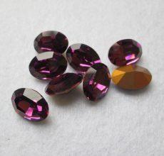 Swarovski kristály ovális - 14x10 mm - tamethyst - GF