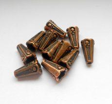 Gyöngykupak - 14*6 mm - vörösréz