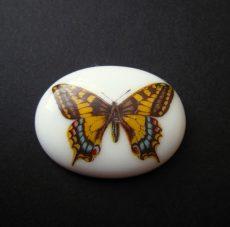 Porcelán kaboson - 40*30 mm - pillangó 6#
