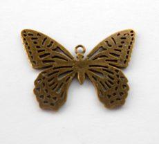 Pillangó medál - 44x32 mm - bronz