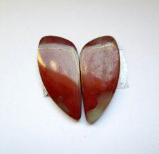 Noréna jáspis kaboson - összeillő pár - 28*12 mm