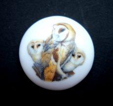Porcelán kaboson - 30 mm - baglyok 4#
