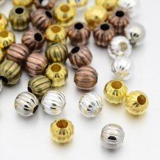 Fémgyöngy - antik arany  - 6 mm