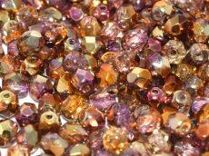 Cseh csiszolt gyöngy - 4 mm - Crystal Sunny Magic Embers - #98004
