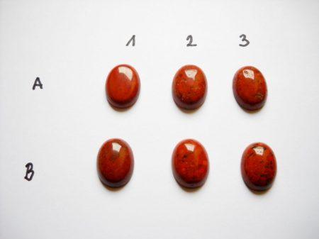Vörös folyó jáspis kaboson - 18*13 mm