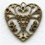 Silver plated heart pendant - 30x26 mm