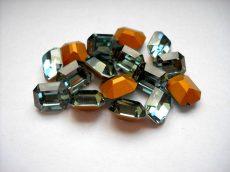 Swarovski szögletes octogon kristály - 10x8 mm - indian sapphire