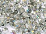 Cseh csiszolt gyöngy - 4 mm - Crystal Silver Rainbow - #98530