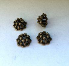 Bronz gyöngykupak - 10x6 mm